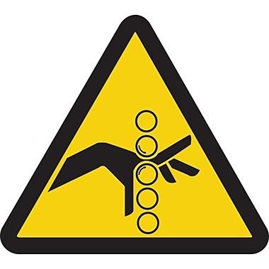 ISO Safety Labels, Warning, Pinch Point Hazard, SAX392