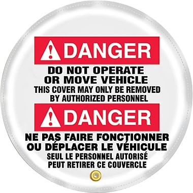 Steering Wheel Covers, Danger; do not operate or move vehicle, SED182