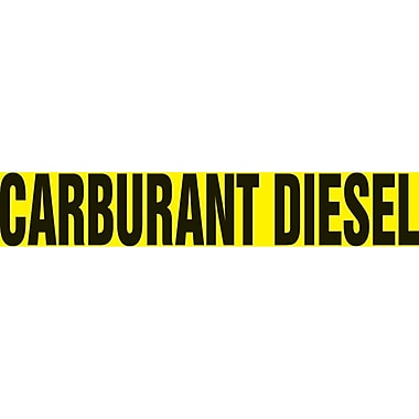 Self-Stick Vinyl Pipe Markers, Carburant Diesel, SAY956, 5/Pack