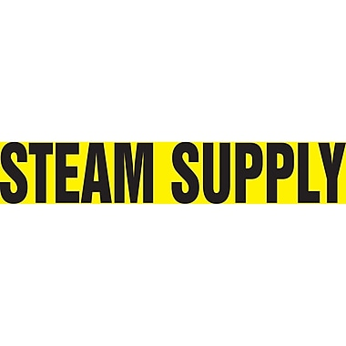 Self-Stick Vinyl Pipe Markers, Steam Supply, SI475, 5/Pack