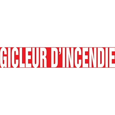 Self-Stick Vinyl Pipe Markers, Gicleur D'Incendie, SQ792, 5/Pack