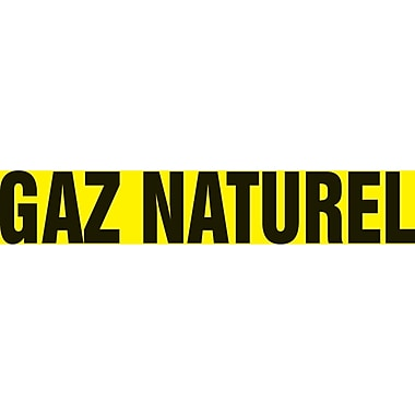 Self-Stick Vinyl Pipe Markers, Gaz Naturel, SAZ026, 5/Pack