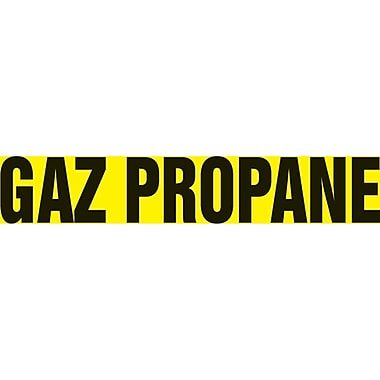 Self-Stick Vinyl Pipe Markers, Gaz Propane, SAZ027, 5/Pack