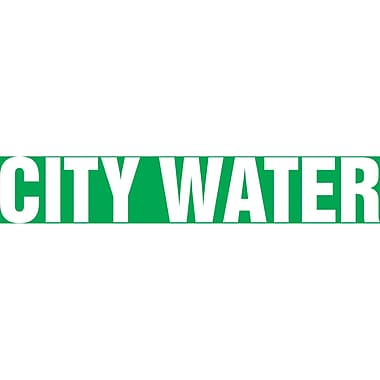 Self-Stick Vinyl Pipe Markers, City Water, SAV297, 4/Pack