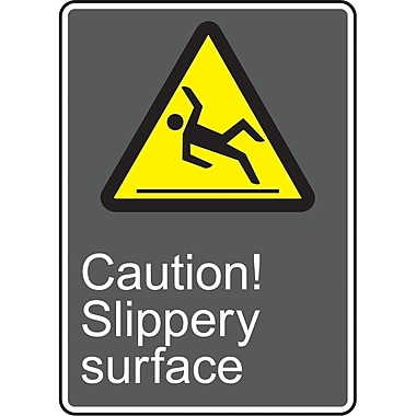 Canadian Standards Association Identification Safety Signs, Caution; Slippery Surface, SAV211