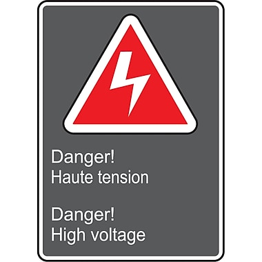 Canadian Standards Association Identification Safety Signs, Danger Haute Tension; Danger High Voltage, SAU965