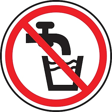 CSA Pictogram Safety Signs, Do Not Drink, SD124