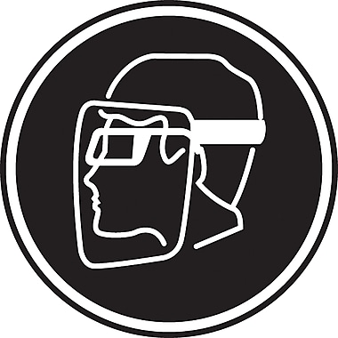 CSA Pictogram Safety Signs, Face Protection Required, SEA390