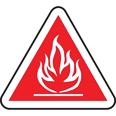CSA Pictogram Safety Signs, Flammable, SD077