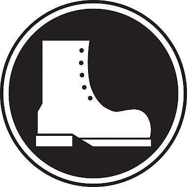 CSA Pictogram Safety Signs, Foot Protection Required, SAW868