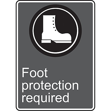 Canadian Standards Association Identification Safety Signs, Foot Protection Required, SU567
