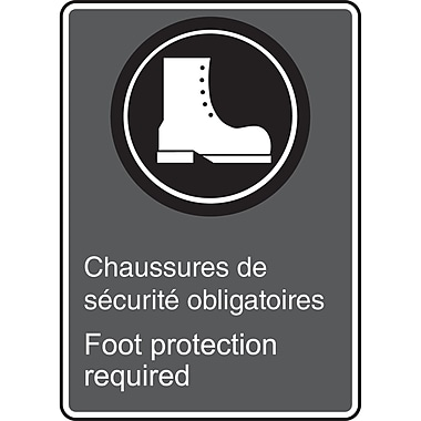 Canadian Standards Association Identification Safety Signs, Foot protection required, SAU905