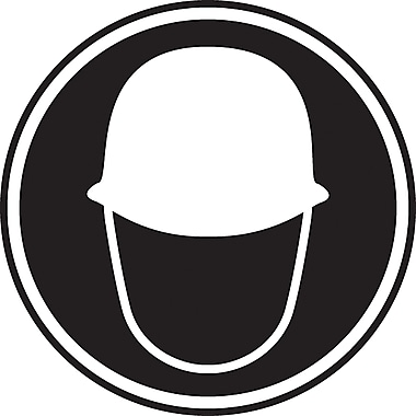 CSA Pictogram Safety Signs, Hard Hat Protection Required, SD142