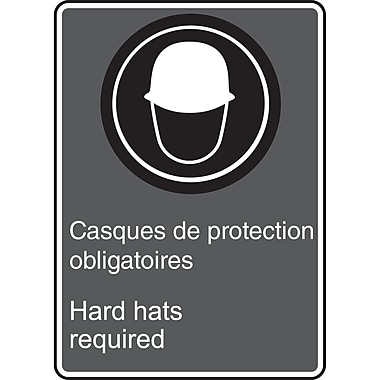 Canadian Standards Association Identification Safety Signs, Hard hats required, SU552
