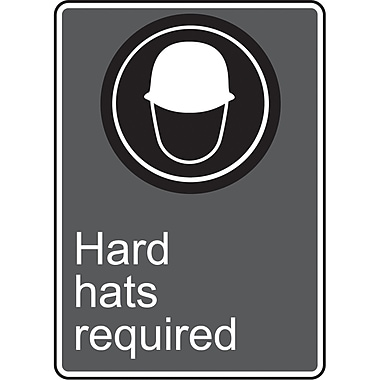 Canadian Standards Association Identification Safety Signs, Hard Hats Required, SU570