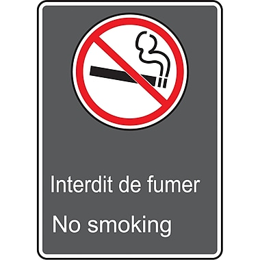 Canadian Standards Association Identification Safety Signs, Interdit De Fumer; No Smoking, SAI728
