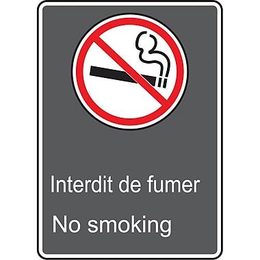 Canadian Standards Association Identification Safety Signs, Interdit De Fumer; No Smoking, SAU940