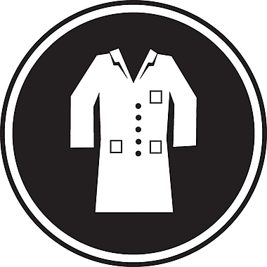 CSA Pictogram Safety Signs, Lab Coat Required, SD134
