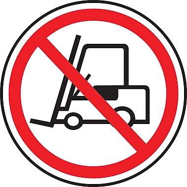 CSA Pictogram Safety Signs, No Forklifts, SEA375
