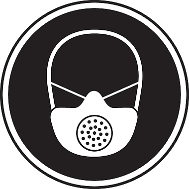 CSA Pictogram Safety Signs, Respiratory Protection Required, SD141