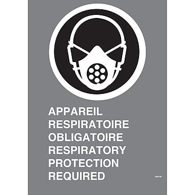 Canadian Standards Association Identification Safety Signs, Respiratory Protection Required, SU577