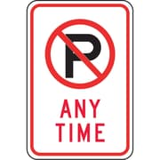 Parking Signs, Any Time with no parking, SAX-506