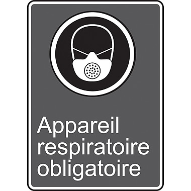 Canadian Standards Association Identification Safety Signs, Appareil Respiratoire Obligatoire, SAU925