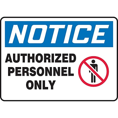 Safety Signs and Identification, Admittance & Exit , Attention; Authorized personnel only, SAP737