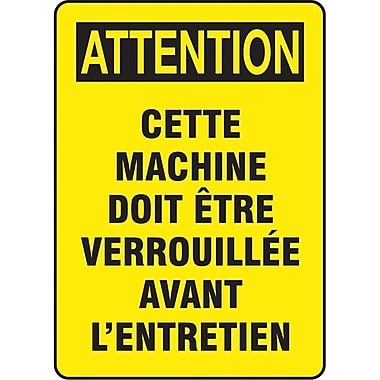 Safety Signs and Identification, Equipment, Attention; Cette Machine Doit etre Verrouillee Avant L'entretien, SP483