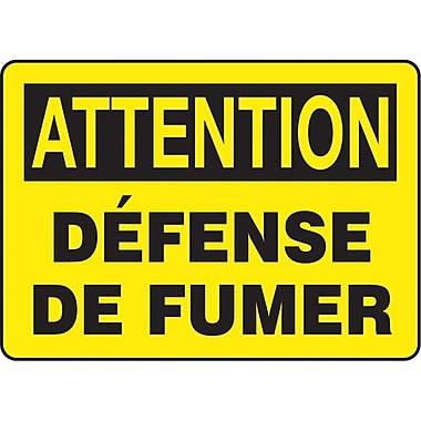 Safety Signs and Identification, Smoking Control, Attention; Defense de Fumer, SP836