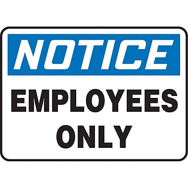 Safety Signs and Identification, Admittance & Exit , Attention; Employees only, SJ730