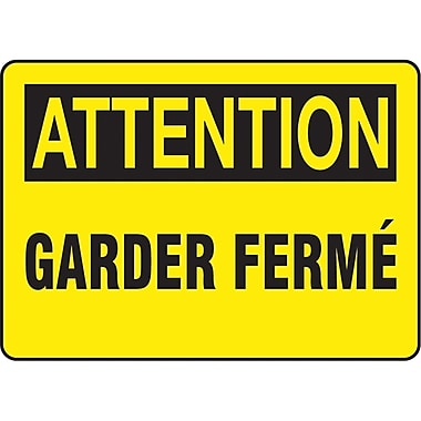 Safety Signs and Identification, Equipment, Attention; Garder Ferme, SAZ642