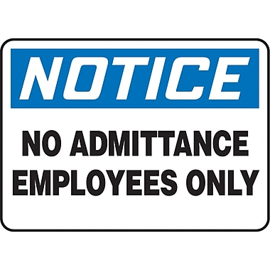 Safety Signs and Identification, Admittance & Exit , Attention; No admittance employee only, SJ757