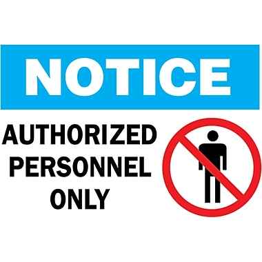 Safety Signs and Identification, Admittance & Exit , Attention; Restricted area authorized personnel only, SJ725