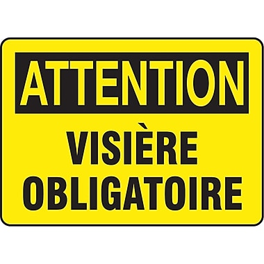 Safety Signs and Identification, Personal Protection, Attention; Visiere Obligatoire, SO263