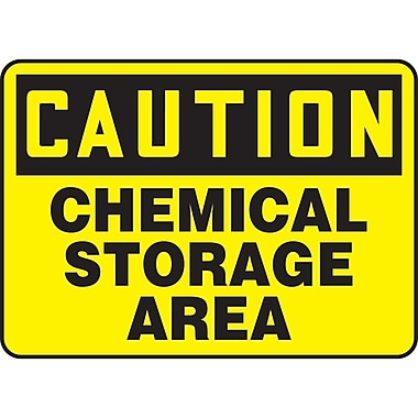 Safety Signs and Identification, Chemicals & Haz-Mat, Caution; Chemical storage area, SAT405