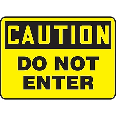 Safety Signs and Identification, Admittance & Exit , Caution; Do not enter, SJ436