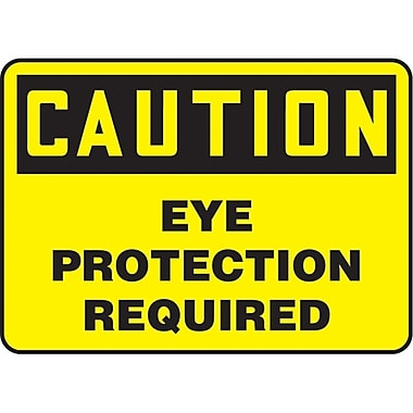 Safety Signs and Identification, Personal Protection, Caution; Eye Protection Required, SK764