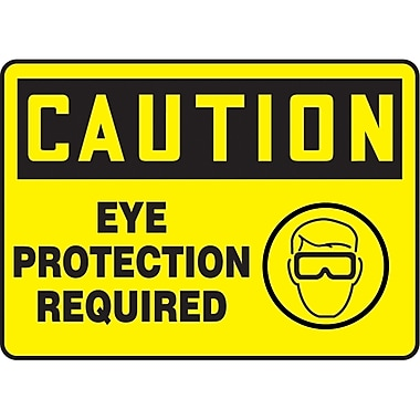 Safety Signs and Identification, Personal Protection, Caution; Eye Protection Required, SAU465