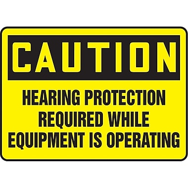 Safety Signs and Identification, Personal Protection, Caution; Hearing protection required while equipment is operating, SAU523