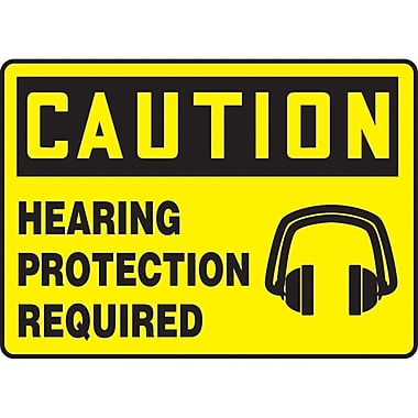 Safety Signs and Identification, Personal Protection, Caution; Hearing protection required, SAU-507