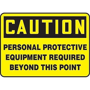 Safety Signs and Identification, Personal Protection, Caution; Personal Protection Equipment Required Beyond This Point, SAU541