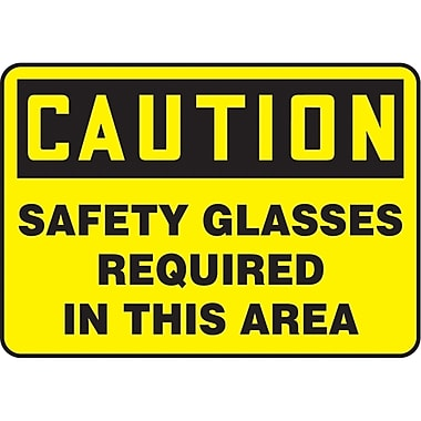 Safety Signs and Identification, Personal Protection, Caution; Safety Glasses Required in this Area, SM293
