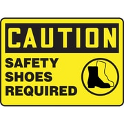 Safety Signs and Identification, Caution; Safety Shoes Required, SBA116