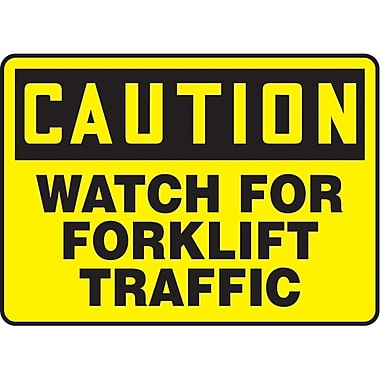 Safety Signs and Identification, Traffic Industrial, Caution; Watch for Forklift Traffic, SAT117