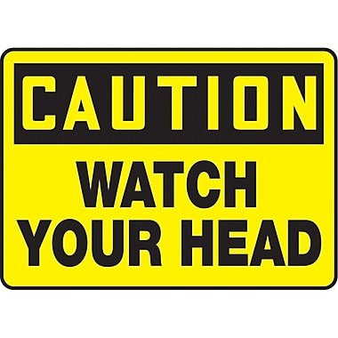 Safety Signs and Identification, Equipment, Caution; Watch your head, SAT795