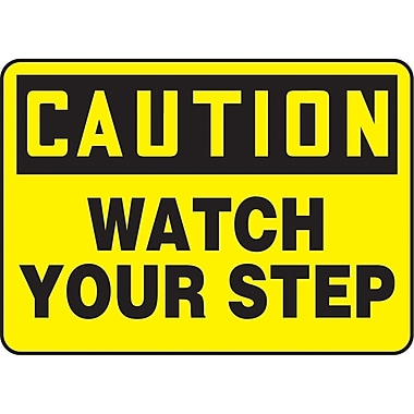 Safety Signs and Identification, Housekeeping, Caution; Watch your Step, SAU254