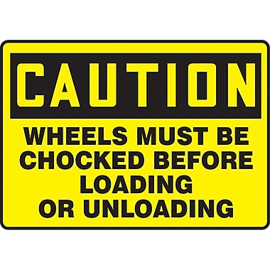 Safety Signs and Identification, Caution Signs, Caution; Wheels must be chocked before loading and unloading, SAT137
