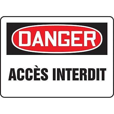 Safety Signs and Identification, Admittance & Exit, Danger; Acces Interdite, SO180