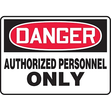 Safety Signs and Identification, Admittance & Exit , Danger; Authorized personnel only, SAS597